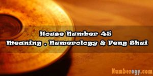 House Number 45 - Meaning , Numerology & Feng Shui