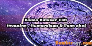 House Number 986 - Meaning , Numerology & Feng shui