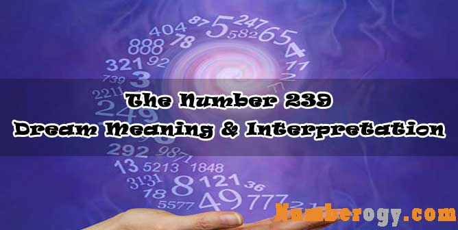 The Number 239 - Dream Meaning & Interpretation